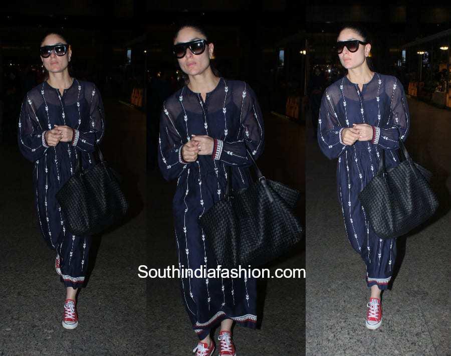Kareena Kapoor in Ikai by Ragini Ahuja at the airport