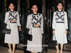 Karishma Kapoor in Anand Bhushan at Babita's Birthday Party