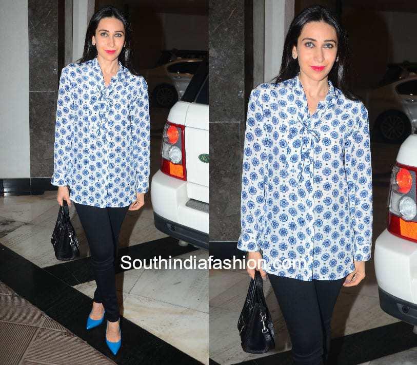 Karishma Kapoor in western wear at Manish Malhotra's home