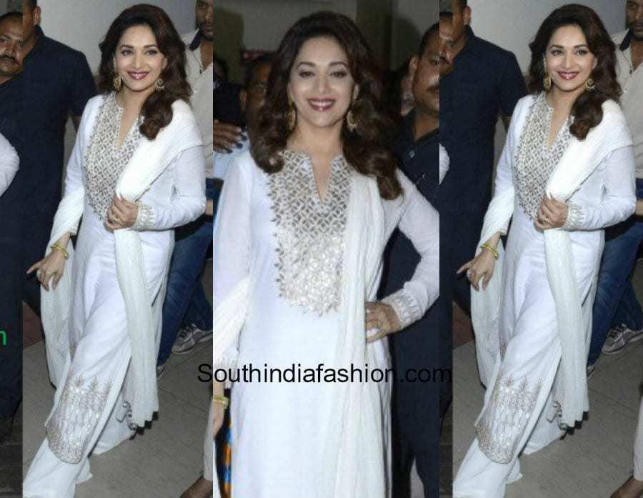 Madhuri Dixit in a palazzo suit 4