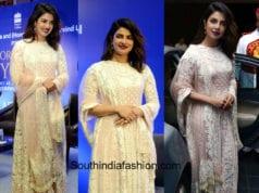 Priyanka Chopra in Manish Malhotra suit for a book launch in Delhi 1