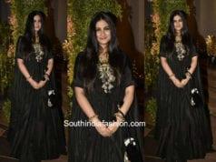 Rhea Kapoor in Abu Jani Sandeep Khosla at Saudamini Mattu Wedding Reception
