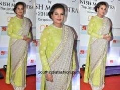 Shabana Azmi in Manish Malhotra at The Walk Of Mijwan Show 2018