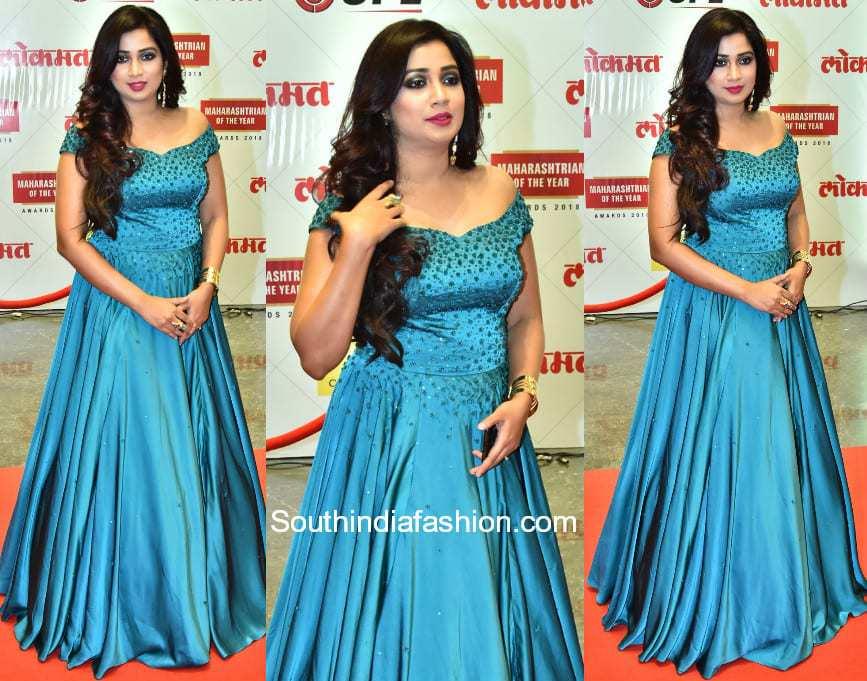 Shreya Ghoshal in Sionnah at Lokmat Awards 2018 1
