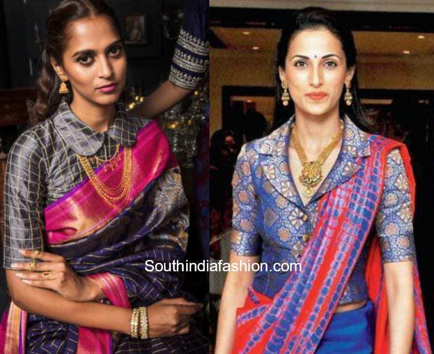 Silk Saree Pattern Blouses