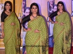 Sonali Kulkarni in a saree at Hope Aur Hum Trailer Launch