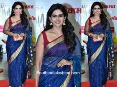 Sonali Kulkarni in a saree at LOkmat Awards 2018