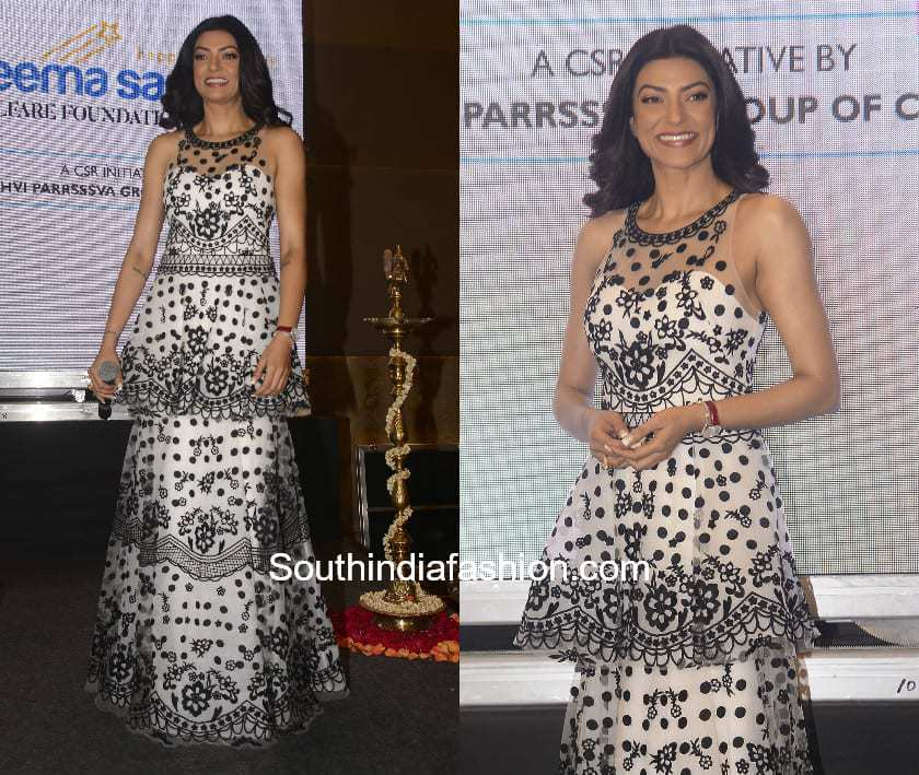 Sushmita Sen in Notte by Marchesa gown at an event (2)