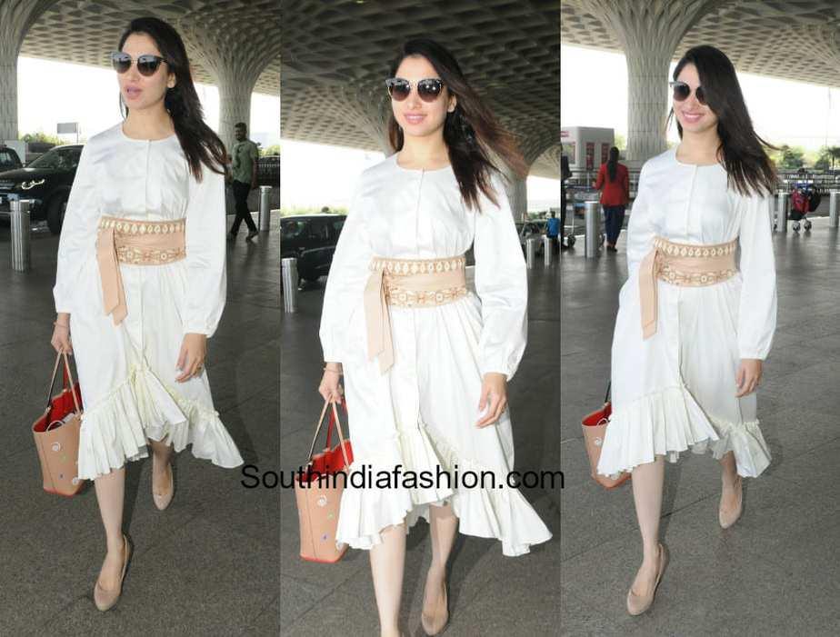 Tamanna Bhatia in Nishka Lulla at the airport