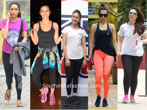 bollywood celebrities gym clothes