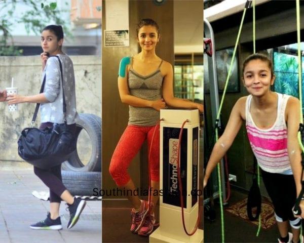 alia bhatt gym workout dresses