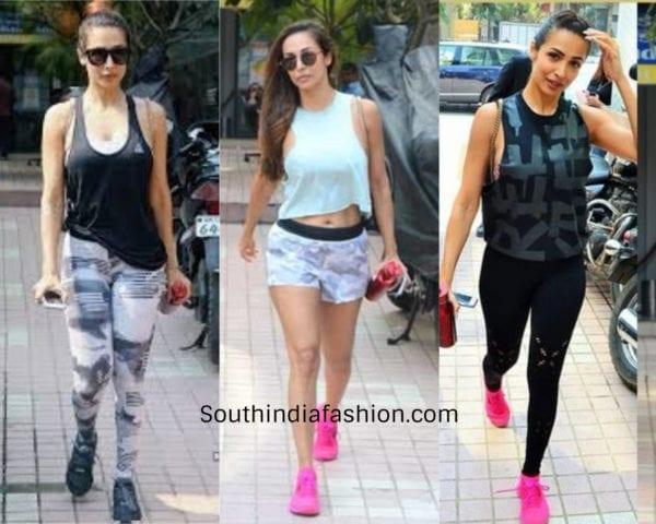 malaika arora gym clothes