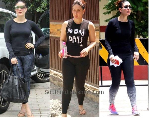 kareena kapoor workout clothes