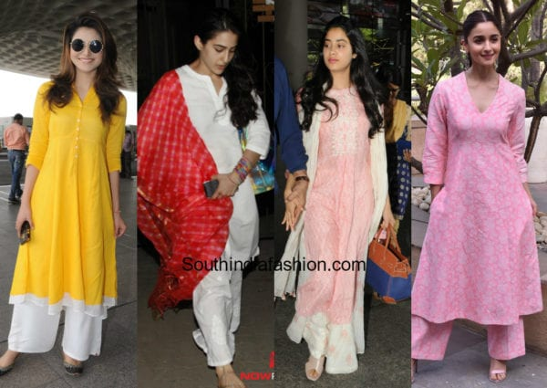actresses in simple salwar suits