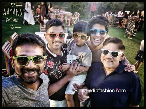 allu arjun son allu ayaan 4th birthday photos