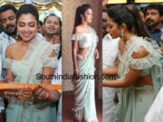 amala paul jos alukkas launch ruffle saree