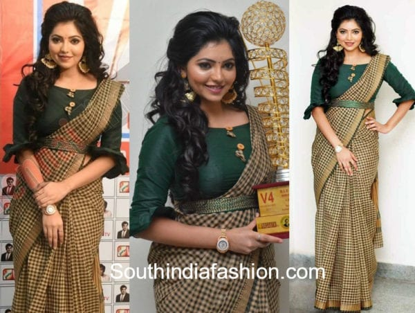 athulya ravi saree v4 awards