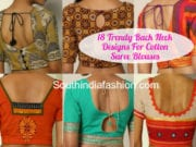 Back Neck Designs For Cotton Saree Blouses