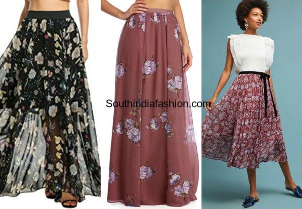 reuse old chiffon saree into skirt