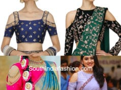 cut shoulder blouse designs
