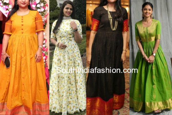 floor length kurtis made form old sarees