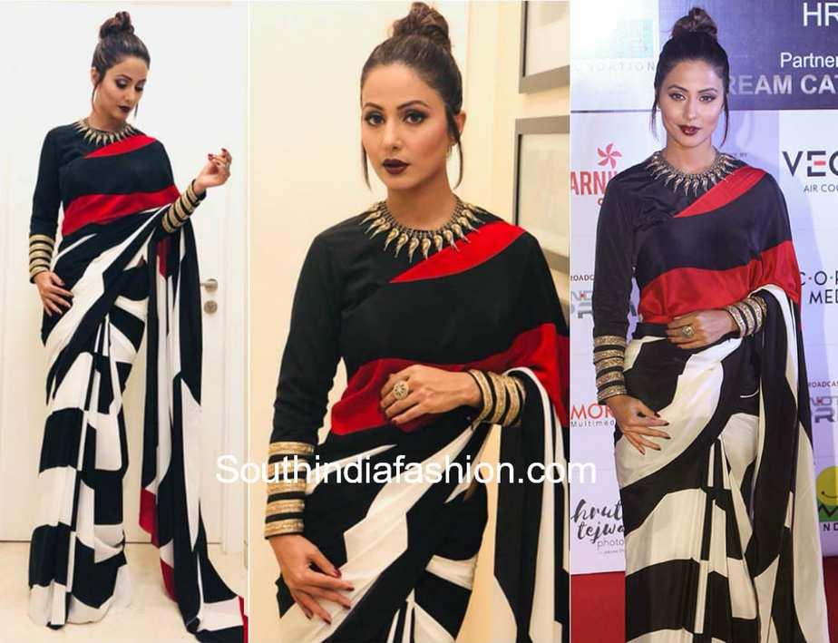 hina khan satya paul saree dada saheb phalke awards 2018