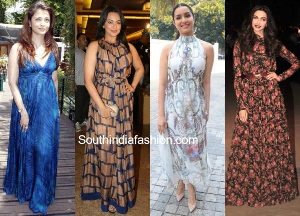 convert old chiffon sarees into maxi dress