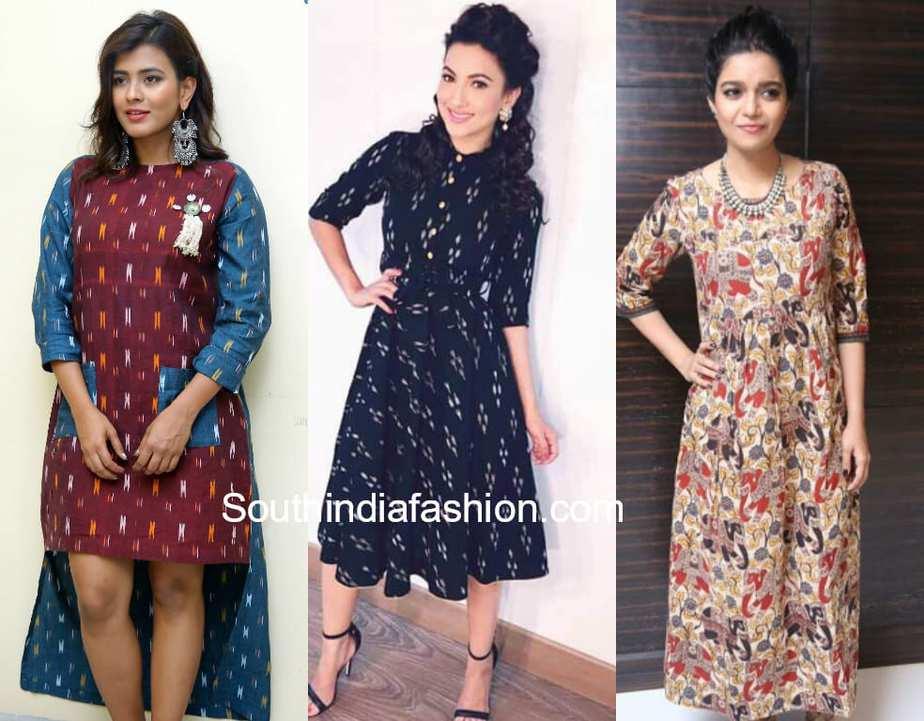 c240801b47b2 actress ikat dress. Indo western summer ...