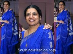 jeevitha rajasekhar blue saree