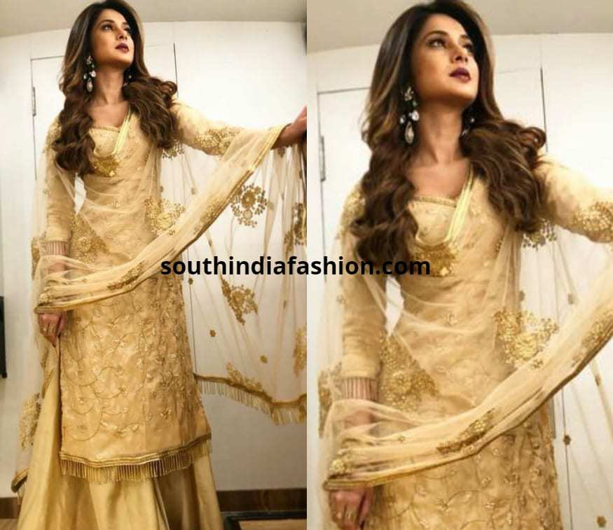 Jennifer Winget Kurta With SKirt