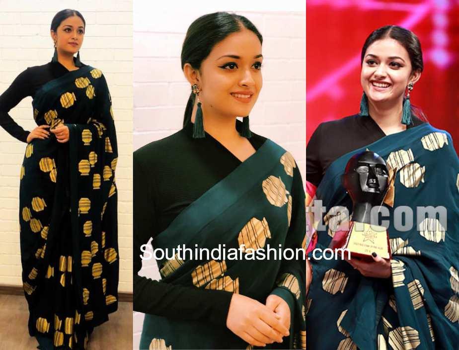 6725d15ab0ae79 Keerthy Suresh at Galatta Nakshatra Awards – South India Fashion