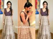 kiara advani bharat ane nenu promotions long gown