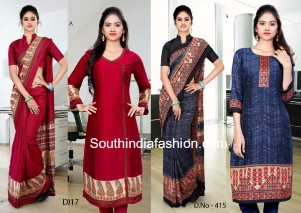 salwar suits made from sarees