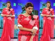 lakshmi manchu in red saree memu saitham