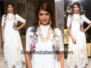 lakshmi manchu white maxi dress at kalasha fine jewels anniversary