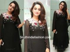 namitha pramod black dress kammara sambhavam premiere show