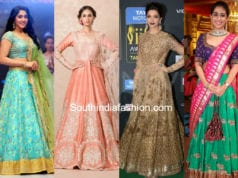 indian bride engagement outfits