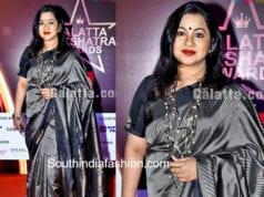 radhika saratkumar grey silk saree
