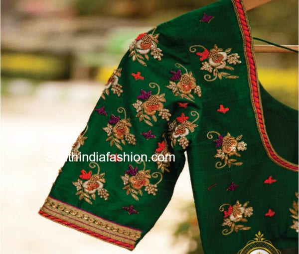 embroidered designser blouses for plain sarees