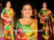 roja in pattu saree at zee apsara awards 2018