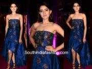 rukshar dhillon blue gown zee apsara awards