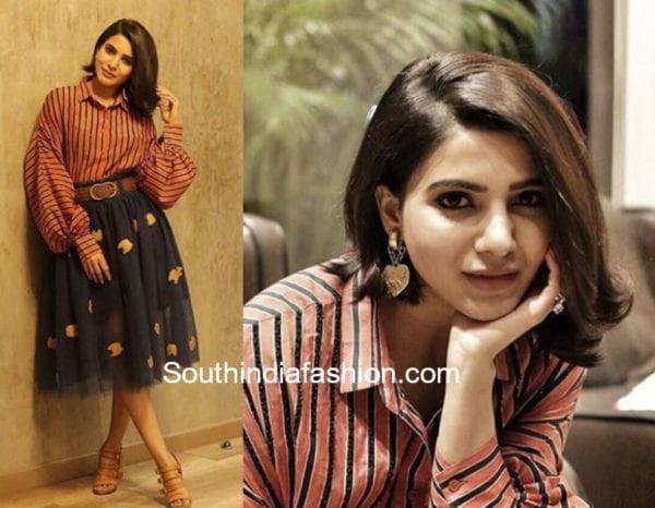samantha prabhu short hair