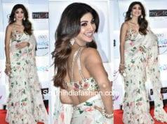 shilpa shetty white saree geo spa awards 2018
