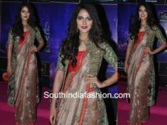 simran choudhary in saree with jacket at zee apsara awards 2018