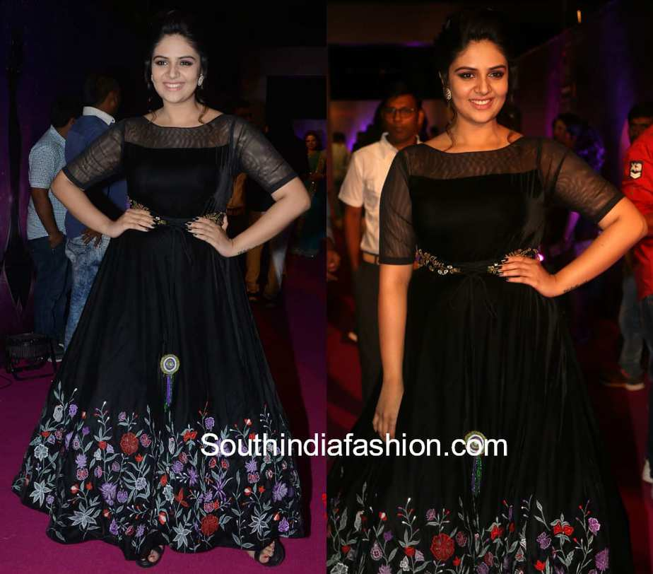 Sreemukhi in Rekha's by Kirthana Sunil – South India Fashion