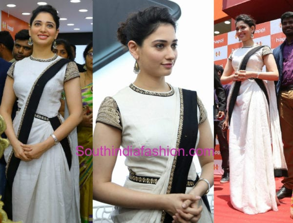 tamannaah in tarun tahiliani saree gown