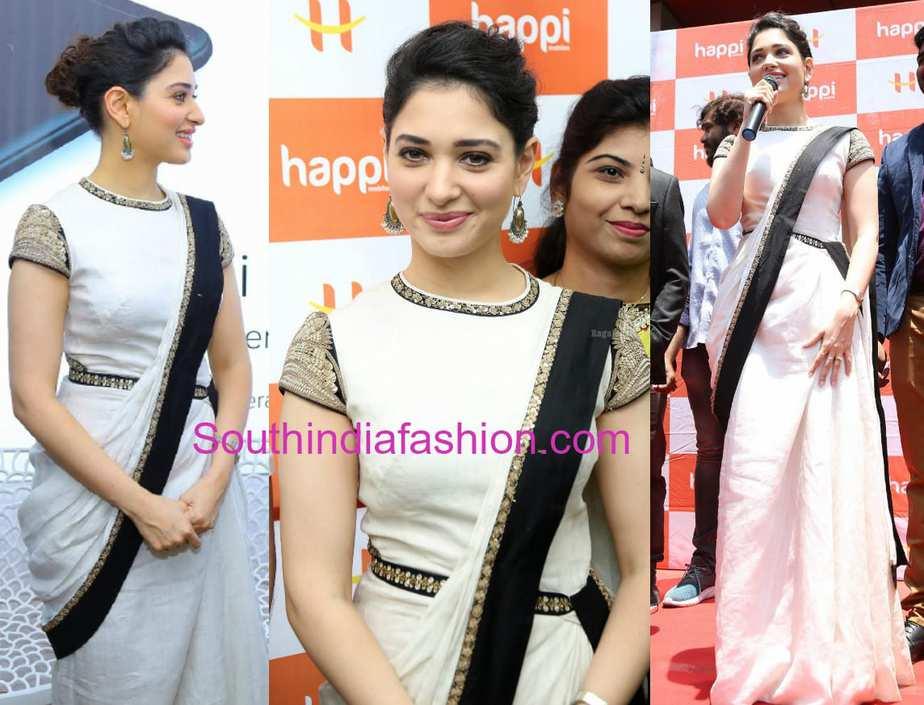 tamannaah bhatia white dress happi mobiles store kurnool