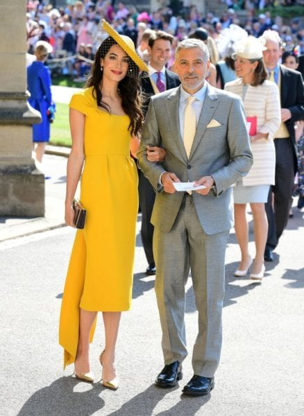 George Clooney and Amal Clooney at the royal wedding