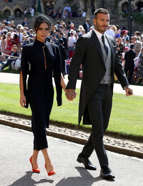 david beckham and victoria beckham at meghan markle wedding