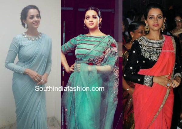 bhavana traditional wear sarees